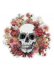 Decoração de plástico esqueleto com flores