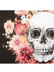 12 Guardanapos de papel esqueleto com flores