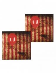 12 Guardanapos de papel Palhaço assustador