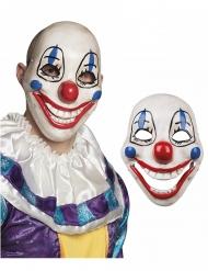 Máscara de plástico Palhaço assustador adulto