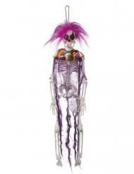 Decoração esqueleto palhaço