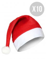 Pack de 10 gorros de Natal adulto