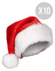 Pack 10 Gorros de Natal adulto