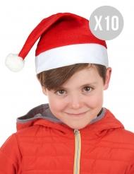 Pack de 10 Gorros de Natal criança