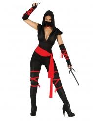 Disfarce de ninja sexy macacão mulher