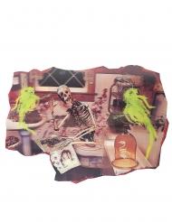 Decoração esqueleto casa de banho 38 x 27 cm