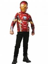 T-shirt com máscara Iron Man™ criança