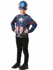 T-shirt com máscara Captain America™ criança