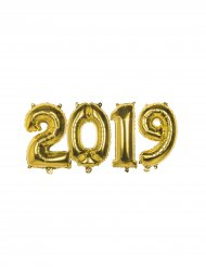 Balões números 2019 alumínio dourado 36 cm