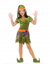 Disfarce duende dos bosques menina