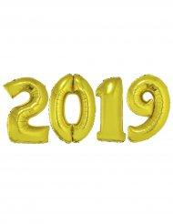 Pack balões gigantes 2019 alumínio dourado