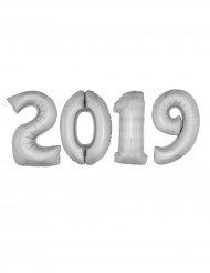Pack balões gigantes 2019 alumínio prateado