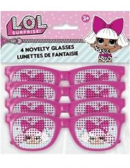 4 Pares de óculos cor-de-rosa às pintas Lol Surprise™