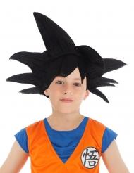 Peruca preta Goku Saiyan Dragon Ball Z™ criança