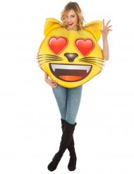 Disfarce Emoji Gato coração™ adulto