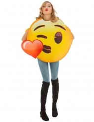 Disfarce Emoji beijo coração™ adulto