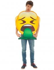 Disfarce Emoji vómito™ adulto