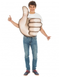 Disfarce Emoji polegar™ adulto