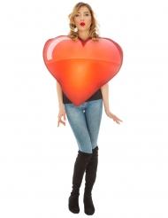Disfarce Emoji coração™ adulto