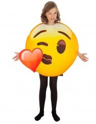 Disfarce Emoji beijo de coração™ criança