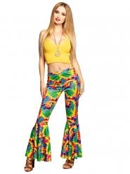 Calça patas de elefante hippie adulto