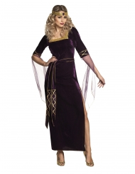 Disfarce lady medieval roxo mulher