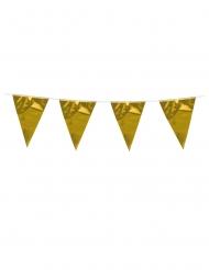 Grinalda de mini bandeirolas douradas 3 m