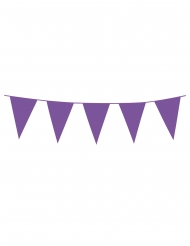 Grinalda de mini bandeirolas lilás 3 m