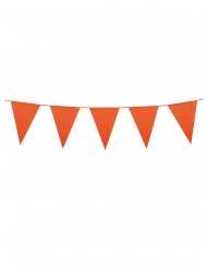 Grinalda de mini bandeirolas cor de laranja 3 m