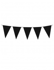 Grinalda de mini bandeirolas pretas 3 m