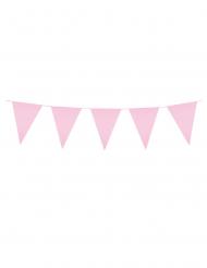 Grinalda  de mini bandeirolas cor-de-rosa 3 m
