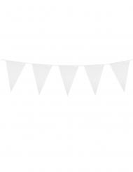 Grinalda de mini bandeirolas brancas 3 m