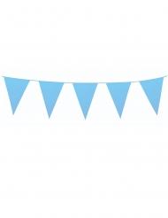 Grinalda de mini bandeirolas azuis 3 m