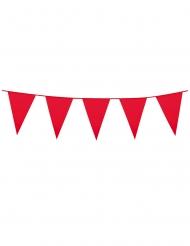 Grinalda  de mini bandeirolas vermelhas 3 m