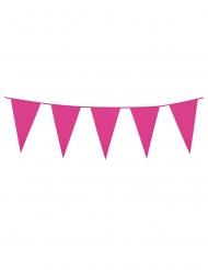 Grinalda de mini bandeirolas fúchsia 3 m