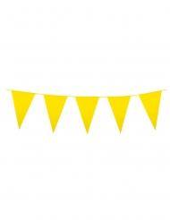 Grinalda de mini bandeirolas amarelas 3 m