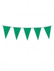 Grinalda  de mini bandeirolas verdes 3 m