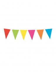 Grinalda de mini bandeirolas coloridas 3 m