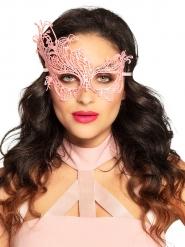 Mascarilha renda rosa sexy mulher