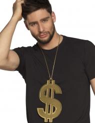 Colar dollars 24 cm XL dourado adulto