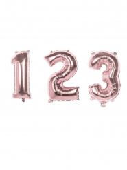 Balão alumínio cor-de-rosa metalizado número 86 cm