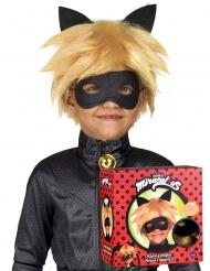 Coffret peruca e máscara Chat Noir Miraculous™ criança