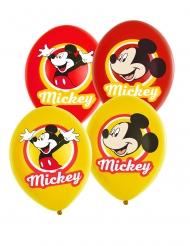 6 Balões látex Minnie Mouse™ amarelo e vermelho 27.5 cm