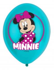 6 Balões de látex Minnie Mouse™ 27.5 cm