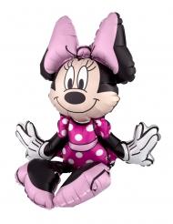 Balão alumínio Minnie Mouse™ sentada 38 x 45 cm
