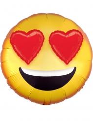 Balão alumínio olhos em corações 43 cm