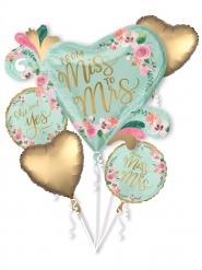 Ramo balões alumínio Miss to Mrs