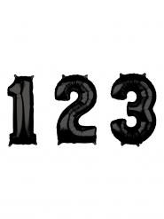 Balão alumínio número preto 43 x 66 cm