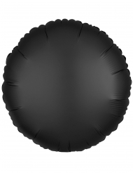 Balão alumínio redondo preto 43 cm