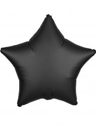 Balão alumínio estrela preta 43 cm